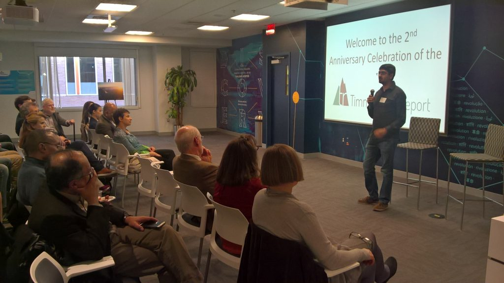 Last but not least, we talked science. Naveen Mehta, a fourth-year grad student at MIT, talked about a new idea for cancer vaccines.